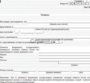 Форма ОН0001, образец заполнения стр.5